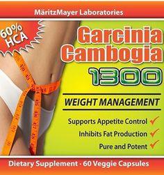 Garcinia Cambogia 1300 - 3-Pack (180 Capsules)