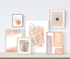 Gallery wall set of 6 Neutral Printable wall art Mid century modern art Print Modern Art Prints, Modern Wall Art, Simple Wall Art, Contemporary Paintings, Modern Abstract Art, Free Art Prints, Contemporary Landscape, Painting Abstract, Acrylic Paintings