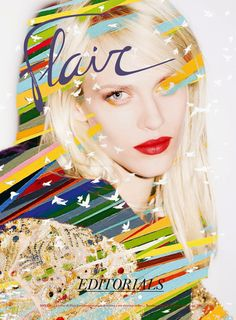 Cover Aymeline Valade by Gregory Harris for Flair Magazine #12