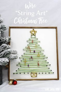 Wire String Art Christmas Tree Girl Just DIY! Make this beautiful String Art Christmas Tree with Wire for a stylish twist on a typical string art project. Christmas Art, Christmas Projects, Christmas Wreaths, Christmas Decorations, Christmas Ideas, Diy Inspiration, Christmas Inspiration, Diy Wall Art, Diy Art