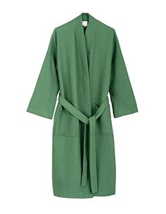 TowelSelections Turkish Waffle Bathrobe Kimono Spa Robe for Women and Men  Large X-Large Deep Grass Green -- Awesome products selected by Anna  Churchill 7eb8a0188