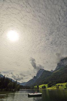 Cloudy sky above Hintersee, Bavaria, Germany (by holidaybavaria).