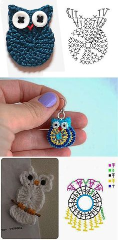 Crochet accessories 353603008245188015 - Trendy Crochet Keychain Owl Key Chains Ideas Source by NathBruRos Crochet Diagram, Crochet Chart, Love Crochet, Crochet Gifts, Crochet Motif, Crochet Stitches, Crochet Hooks, Knit Crochet, Crochet Owl Applique