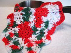 Crocheted Christmas Cotton Dishcloths by CozyCornerCrochets, $12.00