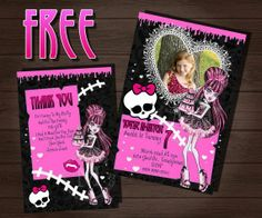 Monster High Invitations Download Free | Fa Afd A C D A invitation templates