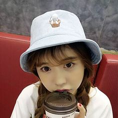 54564e9c299 Rabbit embroidered bucket hat with tail cute animal sun hats for girls