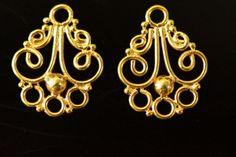 24k gold vermeil chandelier sold by set 18 x 14  mm by vlvp, $6.99