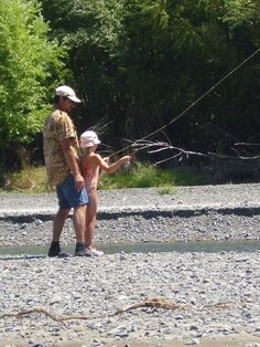 Dad and Daughter fly casting