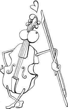 free music coloring book really cute images of instruments to color