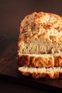 Beer Bread!  can use self-rising flour and omit the salt and baking powder.  YUMMY goes great with those Tastefully Simple dip mixes or any amazing homemade dip! <3