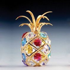 24k Gold-Plated Swarovski Crystal Figurine - Pineapple (Multi-Colored Crystals)  sold by Ballerina Gifts via amazon.com