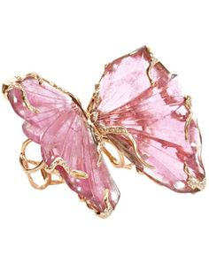 Pink Tourmaline Double Butterfly Ring by Lucifer Vir Honestus