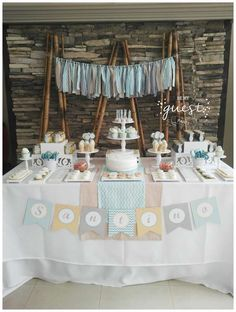 Loving the dessert table at this Communion celebration! See more party ideas and share yours at CatchMyParty.com
