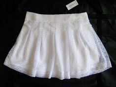 $79.50 BANANA REPUBLIC White Knit Flare Skirt Full Lace Size 10 New with Tags #BananaRepublic #Pleated