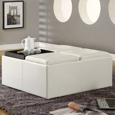 Snow Extra Large Storage Ottoman with Serving Trays. Walmart: $229