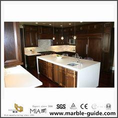 Quartz Kitchen Countertops, Polymer Resin, Drop In Sink, Artificial Stone, Kitchen Tops, White Quartz, Sink Faucets, Quartz Stone, Home Decor