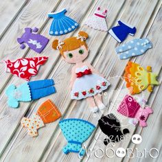 Trendy Ideas For Baby Diy Felt Quiet Books Felt Doll Patterns, Quiet Book Patterns, Felt Diy, Felt Crafts, Felt Doll House, Sewing Baby Clothes, Diy Clothes, Fashion Clothes, Fashion Fashion