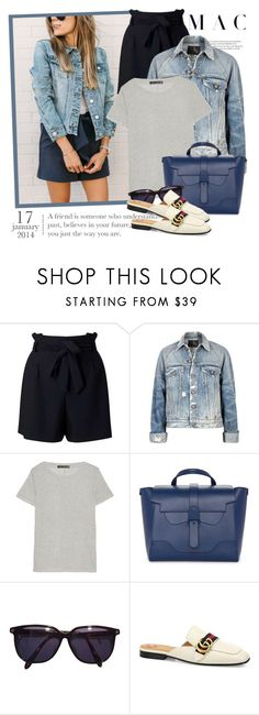 """""""2631. Get The Look"""" by chocolatepumma ❤ liked on Polyvore featuring Elle Macpherson Intimates, Miss Selfridge, R13, rag & bone, Sonia Rykiel, Gucci, GetTheLook, CasualChic, gucci and DenimStyle"""