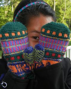 Ravelry: Whimsical Odds & Ends Mittens pattern by Lisa McFetridge