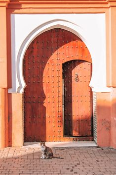 I just got back from a whirlwind trip exploring Marrakech in Morocco and one of the things that stood out the most to me was all the beautiful doors! Visit Morocco, Marrakech Morocco, Morocco Travel, Africa Travel, Vietnam Travel, Moroccan Doors, Moroccan Art, Africa Destinations, Moroccan Interiors