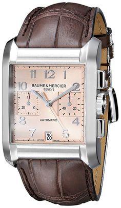 Baume & Mercier Men's BMMOA10031 Hampton Analog Display Swiss Automatic Brown Watch
