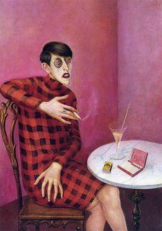 Otto Dix, portrait of the journalist sylvia von harden, 1926
