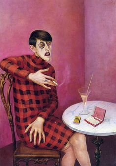 Otto Dix, portrait of the journalist sylvia von harden, 1926