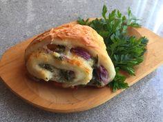 Parasztos háromszögek - Tejturmix Spanakopita, Bagel, Bread, Ethnic Recipes, Food, Meal, Brot, Eten, Breads