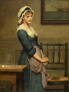 "Mollie, "" In silence I stood your unkindness to hear.....""  1882 di George Dunlop Leslie"