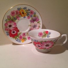 Vintage Royal Grafton Tea Cup and Saucer Set by TheDaintyBullet