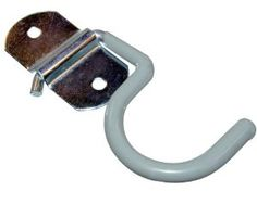 Lehigh SS29 Handle Holder Hook, Grey by Lehigh. $4.69. Crawford by Lehigh handle holder hook mounts right to the wall anywhere convenient. Made of rust-resistant, zinc plated steel. Great for organizing brooms, rakes, mops, tools and shovels. No-mar vinyl cushion coating and screws included. Available in grey color.