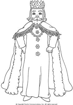 king+coloring+pages | PBS Kids - Mister Rogers' Neighborhood: King Friday Coloring Page
