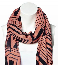 This geo print scarf is the perfect way to add a bit of the tribal trend to your wardrobe! Pair it with one of our v-neck tees. Tribal Trends, Holiday Wishes, Holiday Fashion, V Neck Tee, Jessie, Geo, Spring Summer Fashion, Bouquets, Style Me