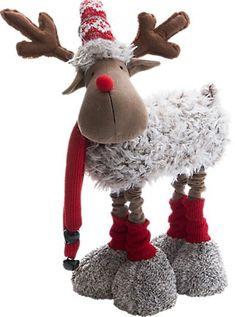 Christmas Moose, Christmas Scenes, Christmas Fabric, Winter Christmas, Moose Crafts, Christmas Decorations, Christmas Ornaments, Holiday Decor, Old Fashioned Christmas