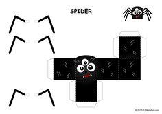 Free Halloween Papercraft - Spider - Printables #halloween #spider #diy #craft