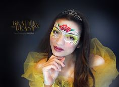 BELLE-Beauty and the Beast Face Painting by Silvia Vitali