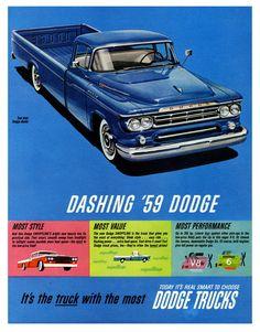1959 Dodge trucks - in honor of Dr. Paul Malon (1958-2015)
