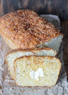 This Cheesy English Muffin Bread is an easy to make bread that comes together quickly and is full of cheddar cheese! It bakes into a beautiful loaf that's perfect for toasting.