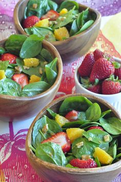 Spring Green Salad, easy healthy salad, great in the summer, kids will love it!