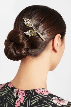 Marni | Gold-plated crystal hairclip | NET-A-PORTER.COM