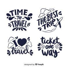 Colección banner de viaje caligráficos v... | Free Vector #Freepik #freevector #etiqueta #viajes #mano #divisa Doodle Art Drawing, Drawing Quotes, Scrapbook Stickers, Planner Stickers, Travel Posters, Travel Quotes, Flight Attendant Quotes, Logo Mano, Bullet Journal Travel