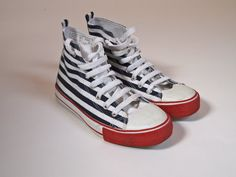 Vintage designer navy blue and white striped by GloriaDaysVintage, £48.00