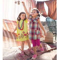 Stay cool in the shade. Such cute dresses (especially love the yellow)!  Perfect for hot summer days.  #TeaSummer
