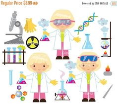 ON SALE INSTANT Download. CChem_4_Chemist_girl. Chemist clip art. Personal and commercial use.