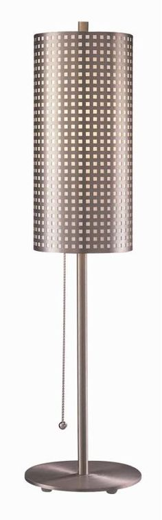 Kovacs GK P5742 1 Light Table Lamp from the Grid Collection Brushed Nickel Lamps Table Lamps