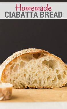 This simple Ciabatta Bread recipe will give you a rustic Italian loaf that is the perfect side for dipping into soups or sauces. The high hydration in this bread results in a wonderfully chewy center and tons of irregular holes. It's also great for sandwiches. #bakedbyanintrovert #yeast #bread via @introvertbaker