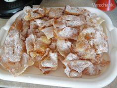 Fánky-heröce ako sa robia na Gemeri (fotorecept) - recept | Varecha.sk Snack Recipes, Snacks, Cereal, Chips, Food And Drink, Ale, Breakfast, Basket, Snack Mix Recipes