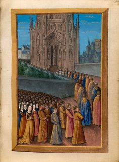 Psalm 122 (Vulg., 121): Liturgical: Procession | Book of Hours | France, Bourges | ca. 1473 | The Morgan Library & Museum