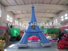 2012 hot selling advertising inflatable Eiffel Tower, View plastic eiffel tower, waha Product Details from Yantai Waha Inflatable Co., Ltd. on Alibaba.com