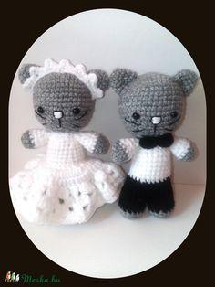 Meska - Mr és Mrs Cicó Galagonyatanya kézművestől Teddy Bear, Toys, Animals, Activity Toys, Animales, Animaux, Toy, Teddy Bears, Animal Memes